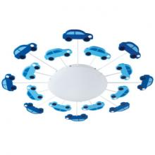 A blue and white car wall & ceiling light